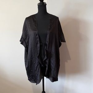 Victoria Secret Robe Black Gloss Polyester Pre Owned EC One Size Authentic